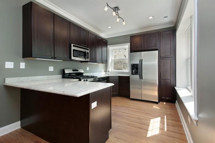 Dark Wood Style Kitchen